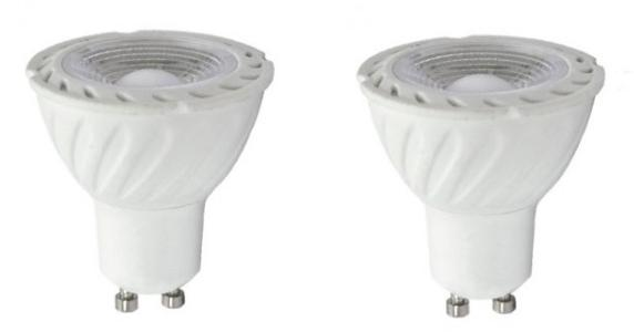 LOT DE 2 AMPOULES LED GU10 - 7W