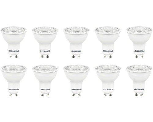 LOT DE 10 AMPOULES LED GU10 SYLVANIA - 4.5W
