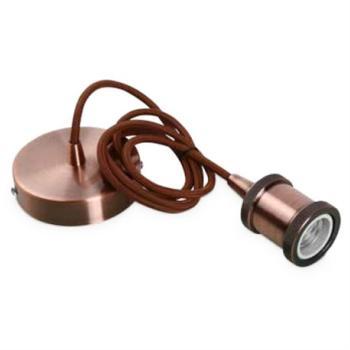 Suspension e27 gros culot vintage deco laiton cuivre for Exterieur tendance 26200