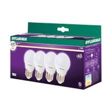 LOT DE 4 AMPOULES LED SPHERIQUE SYLVANIA E27 - 5W  - 470 Lumens - 2700K