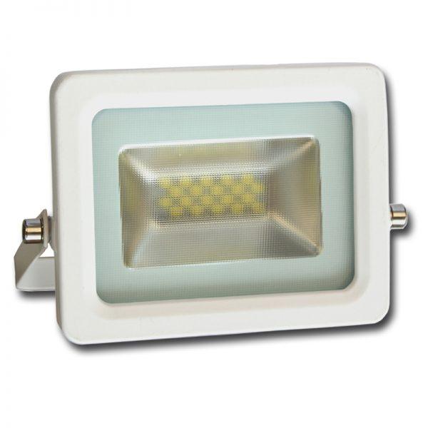 projecteur led slim extra plat blanc exterieur 30w. Black Bedroom Furniture Sets. Home Design Ideas