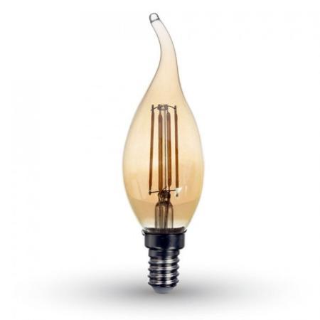 ampoule coup de vent filament led e14 petit culot 4w. Black Bedroom Furniture Sets. Home Design Ideas