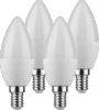 LOT DE 4 AMPOULES LED FLAMME E14 - 5.5W  - 470 Lm