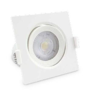 SPOT ENCASTRE CARRE ORIENTABLE LED IP20 7W - BLANC